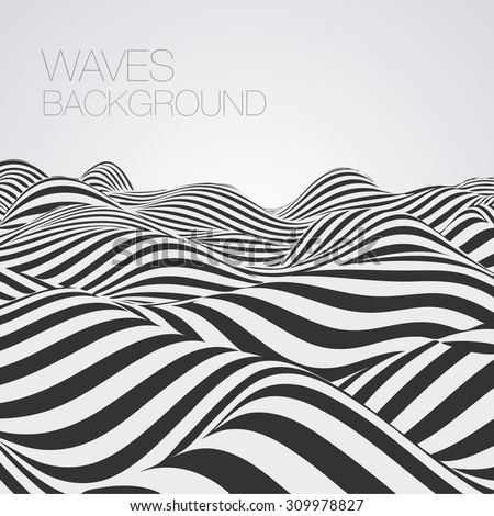 Abstract waves baskground - stock vector