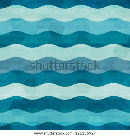 abstract waves seamless - stock vector