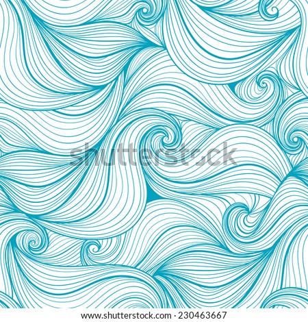 abstract waves seamless pattern - stock vector