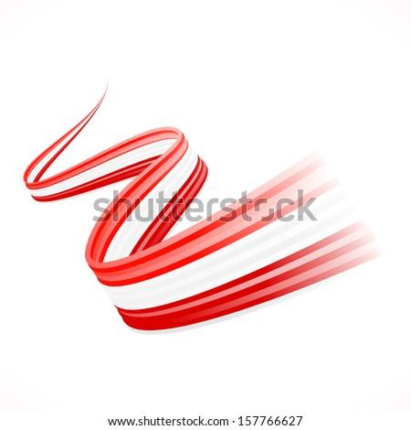 Abstract waving Austrian, Canadian and  Denmark flag  - stock vector