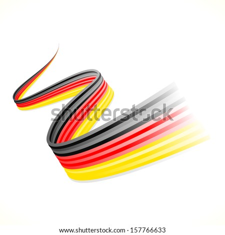 Abstract waving German flag isolated on white background  - stock vector