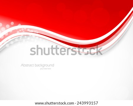 Abstract wavy background bright brochure template design - stock vector