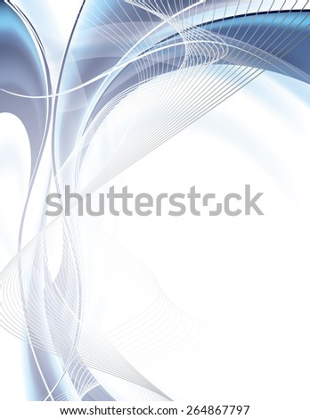 Abstract wavy background. Vector. - stock vector