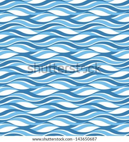 Abstract wavy ocean background - stock vector