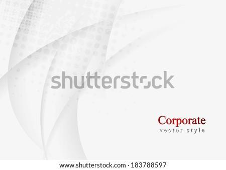 Abstract wavy vector background - stock vector