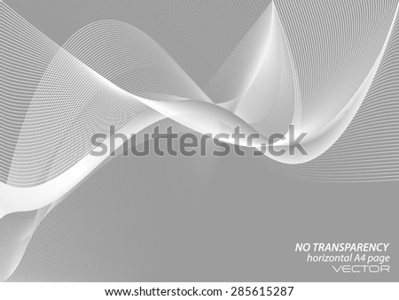 Abstract way lines background, white & gray background - stock vector