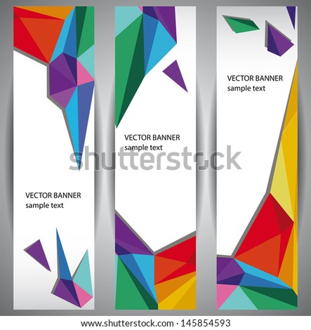 Abstract Web Banners Color polygons. Eps10 . - stock vector