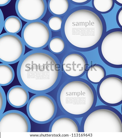 Abstract web design bubble with background. Design template /website layout vector - stock vector