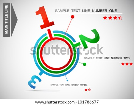Abstract web design infographic - stock vector