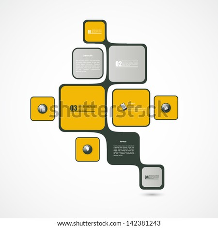 Abstract web design, minimalistic bubble style, vector  - stock vector