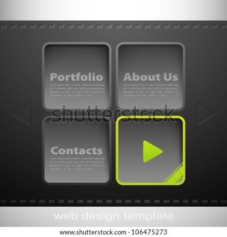 abstract web design template - stock vector
