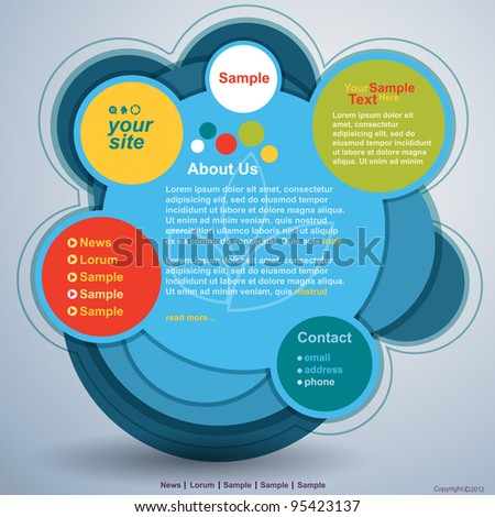 Abstract web site design vector template - stock vector