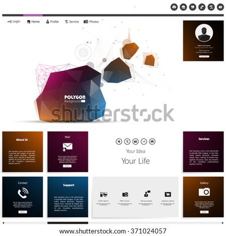 Abstract Website Template Design - stock vector