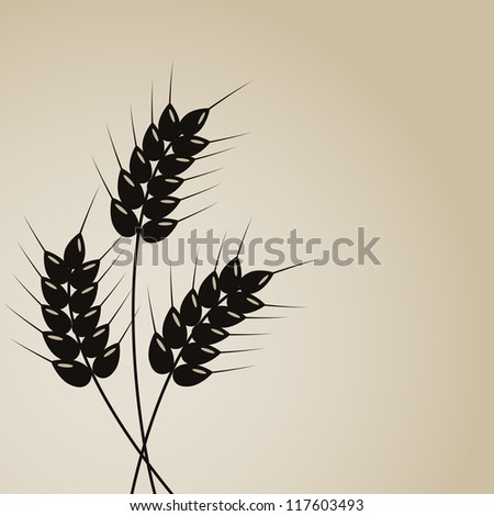 Abstract wheat background - stock vector