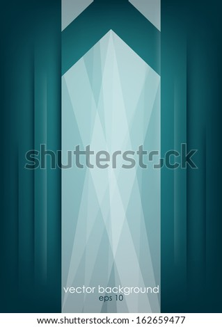 Abstract white arrow on dark vertical background. Vector version. - stock vector
