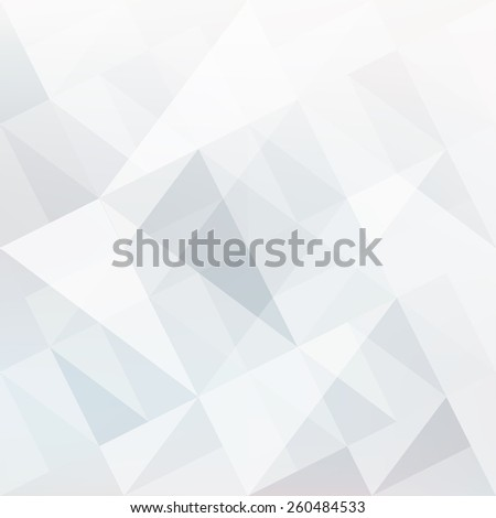 Abstract white background with triangles shapes - stock vector