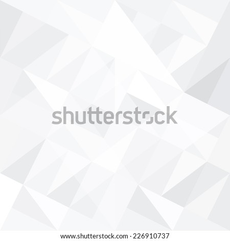 Abstract white background with triangles. Vector. - stock vector