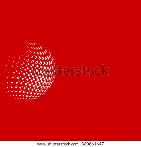 Abstract white dots, red background for your text and logo              - stock vector