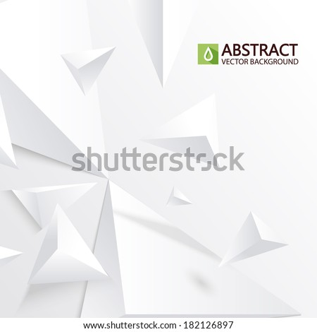 abstract white triangle background - stock vector