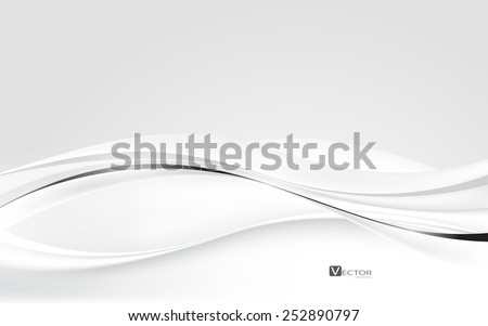 Abstract white waves. Vector Illustration. Clip-art - stock vector
