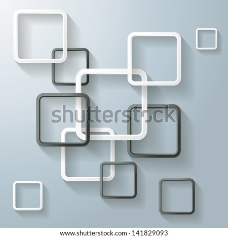 Abstract window rectangles. Eps 10 vector file. - stock vector
