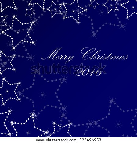 Abstract winter background with stars - stock vector