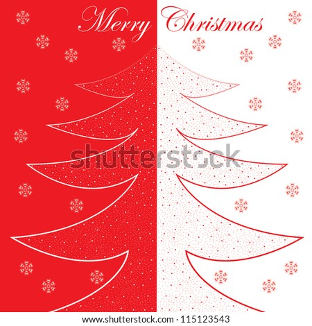 Abstract winter Christmas background with ball - stock vector