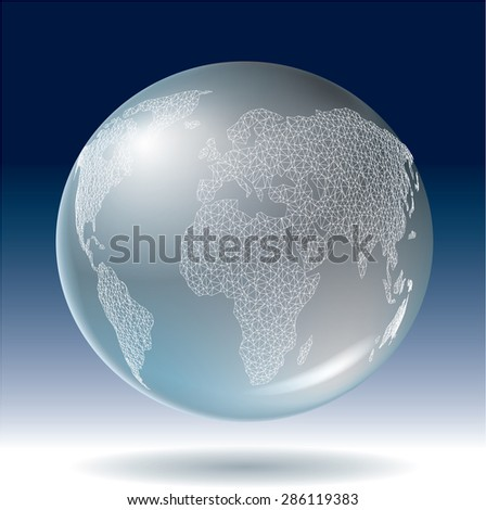 Abstract world globe vector illustration. - stock vector