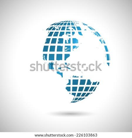 Abstract world illustration, vector - stock vector