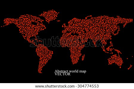 Abstract world map. Colorful background. Vector illustration. Eps 10 - stock vector