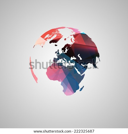 Abstract world vector symbol - stock vector