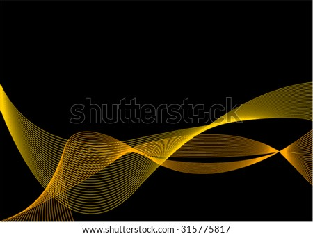 Abstract Yellow and Black Background with Blend - stock vector