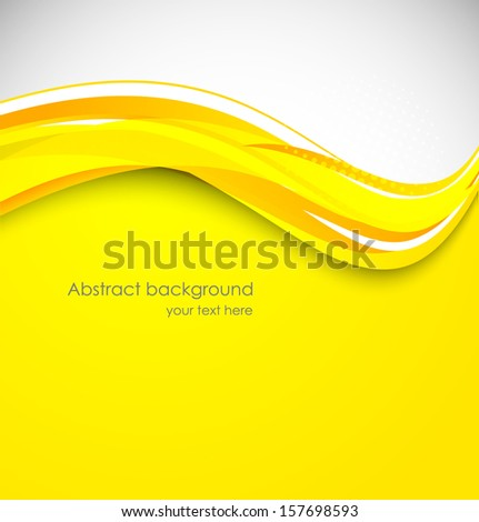Abstract yellow background - stock vector
