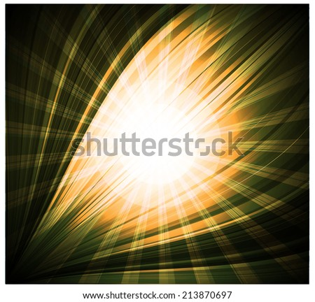 Abstract yellow black background Beautiful rays of light  - stock vector