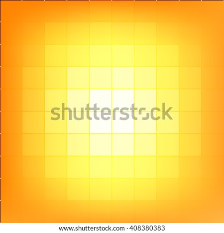 Abstract yellow mosaic background. - stock vector