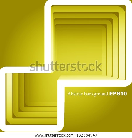 abstract yellow square background to place your concept. vector design - stock vector