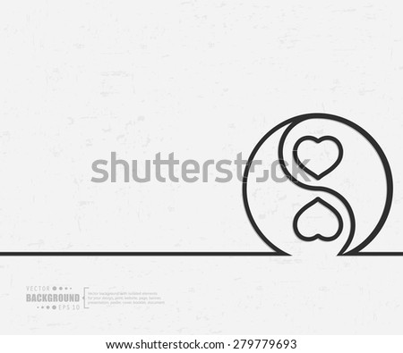 Abstract yin-yang vector background. For web and mobile applications, illustration template design, creative business info graphic, brochure, banner, presentation, concept poster, cover, booklet, document. - stock vector