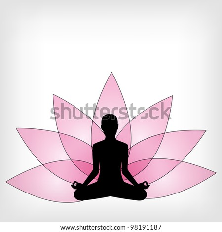 abstract yoga background - vector illustration - stock vector