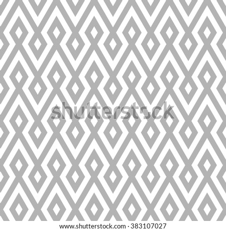 abstract zigzag and rhombus pattern background with grey color.native pattern - stock vector