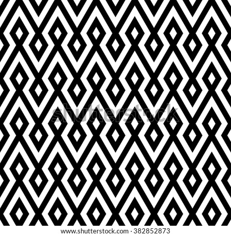 abstract zigzag and rhombus pattern background with monochrome.native pattern - stock vector