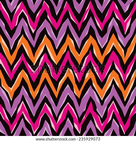 Abstract zigzag pattern repeats seamlessly. - stock vector