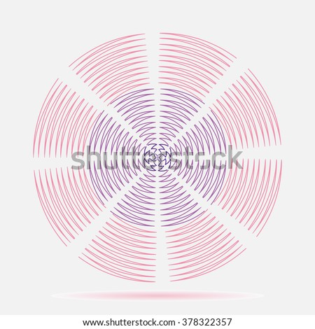 Abstract zigzag shape illustration vector design. - stock vector