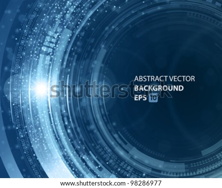 Abstraction digital circles light vector background eps 10 - stock vector