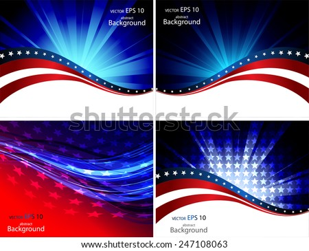 Abstraction on a theme of the American flag - stock vector