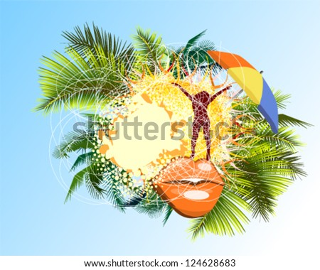 Abstraction with rest - stock vector