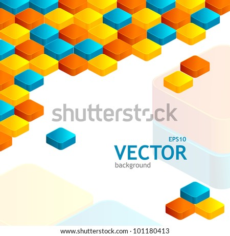Abstrast cube - stock vector