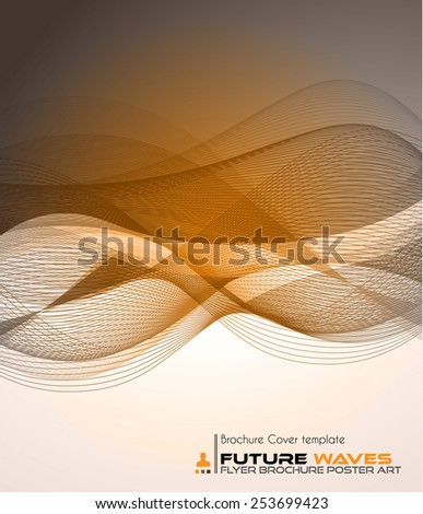 Abtract waves background for brochures and flyers design. The template is ideal also for business cards, advertisement, posters and presentations. - stock vector