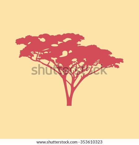 Acacia tree - stock vector