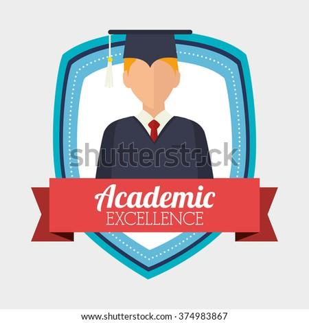 academic excellence design  - stock vector