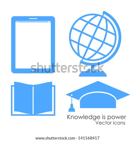 Academical icons, vector illustration - stock vector